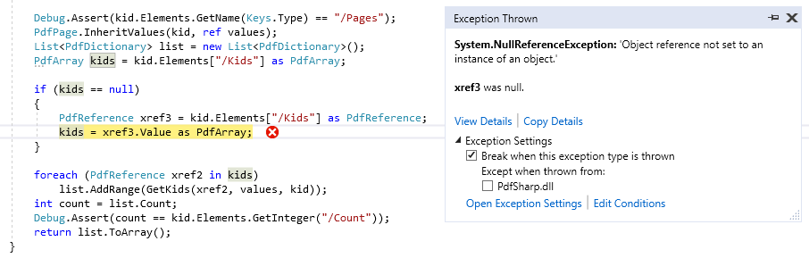 pdfsharp getkids null ref exception.PNG